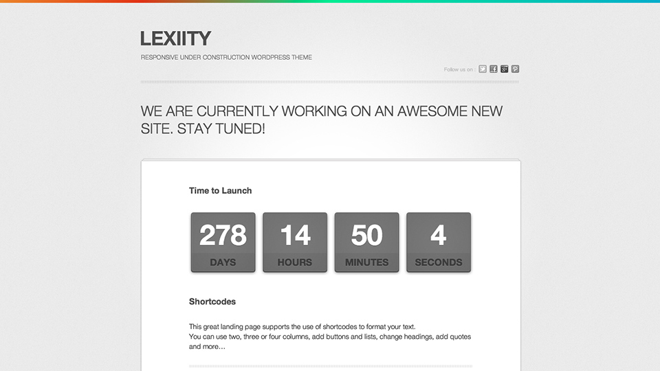 Lexiity wordpress theme