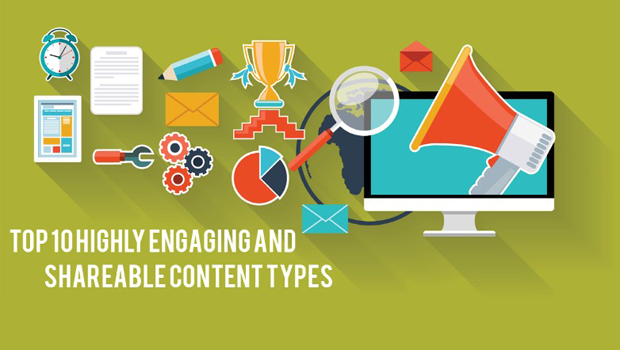 Highly Engaging and Shareable Content Types