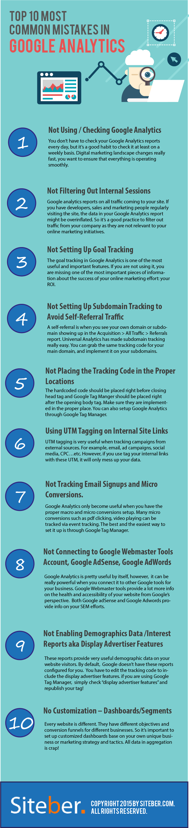 Top 10 most common mistakes in google analytics
