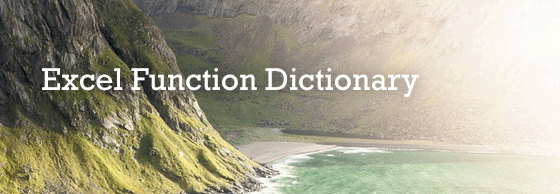 Excel-Function-Dictionary