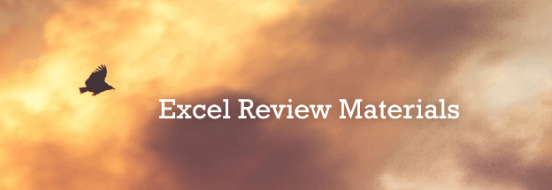 Excel-Review-Materials
