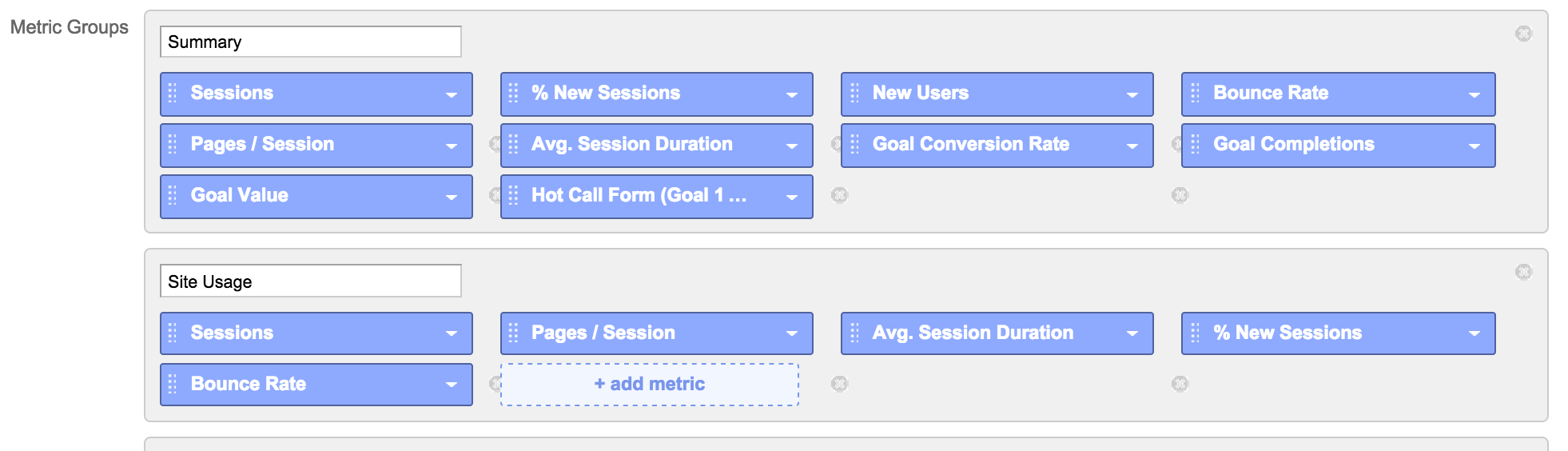custom reports in google analytics step 2