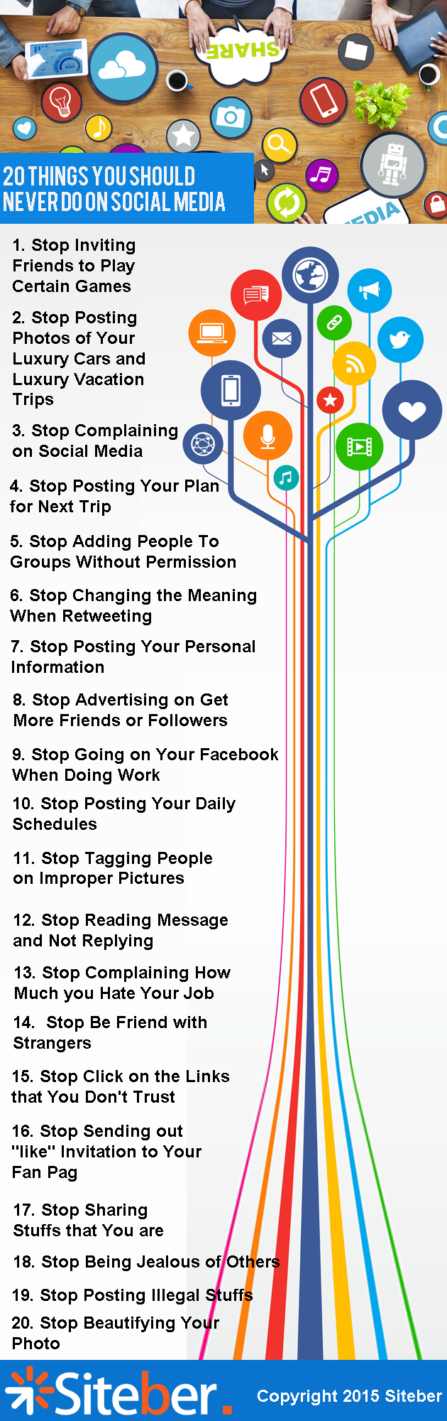 Things You Should Never Do on Social Media