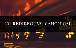 301 REDIRECT VS. CANONICAL